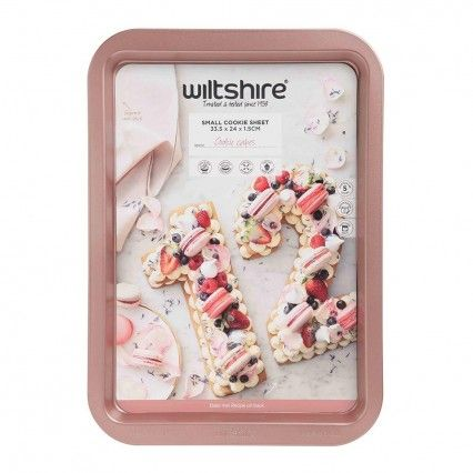 Wiltshire Rose Gold Cookie Sheet 33.5cm Wiltshire,Cooks Plus